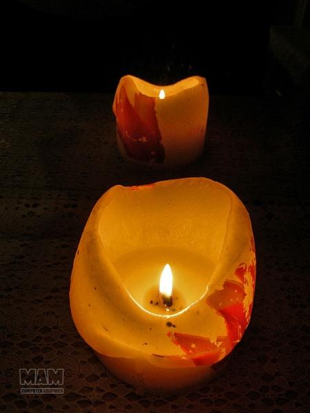 Candle candle reflection