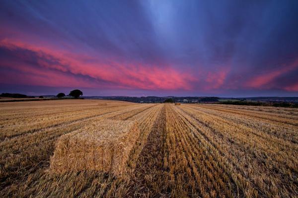 Farmland sunrise... by steve_eb