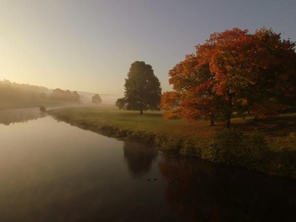 Chatsworth Morning Mist by ianmoorcroft