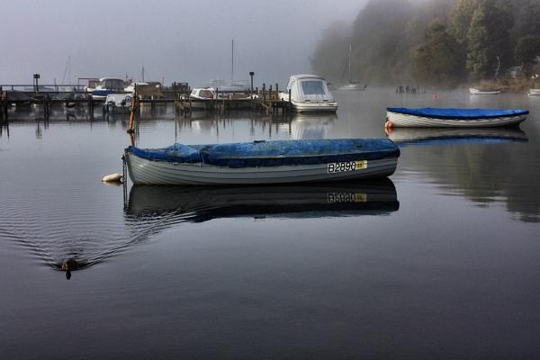 Balmaha on a misty morning by DanfromScotland