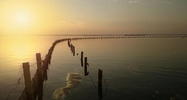 Fim de tarde no lago by Professador