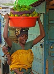 Shy lady in Rwanda