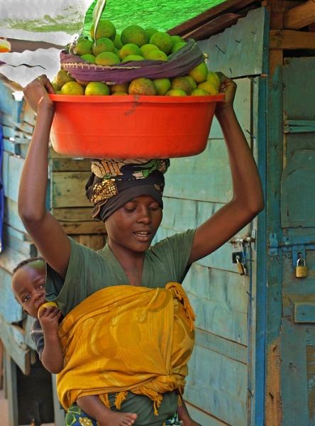 Shy lady in Rwanda by JuBarney