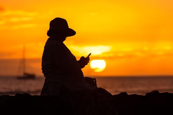 Sunset Text by Trevhas