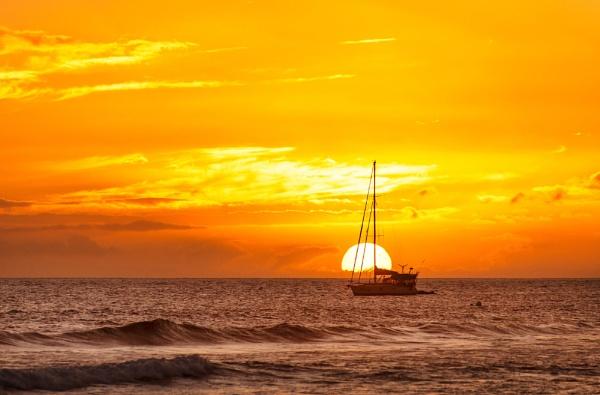 Sunset Sail by Trevhas