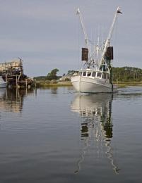 Wooden Shrimp Trawler