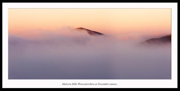 Malvern Hills Worcestershire at November sunset. by J_Tom