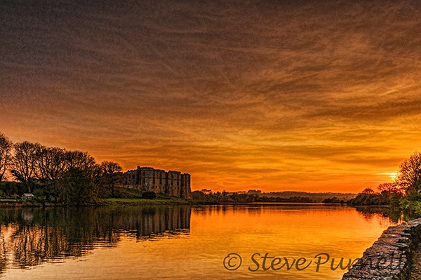 Carew Castle At Sunset by silversnapper1