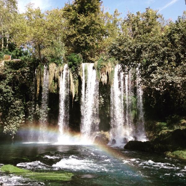 Rainbows and waterfalls by caj26