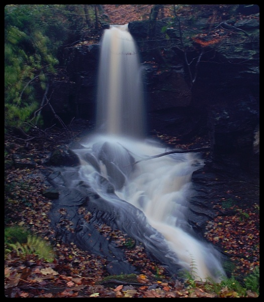 lumsdale waterfall by jrphotography