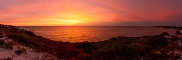 Jurien Bay Sunset Panorama by Brindamour