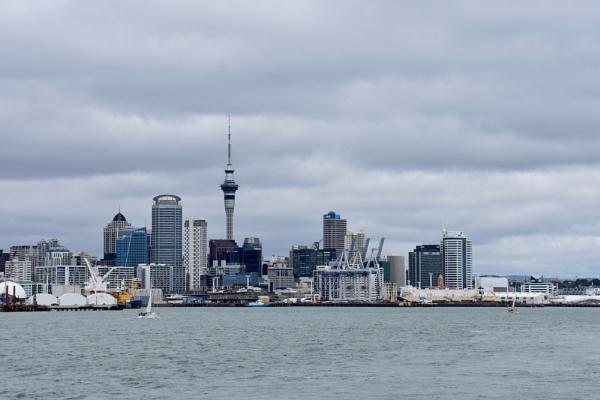 Auckland skyline by ColleenA
