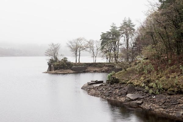 A Misty Day at Burator Reservoir by LinBrennan