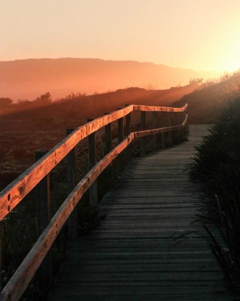 Boardwalk sunset by Rwade