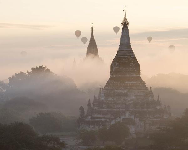 Bagan Dawn by AnnChown