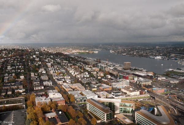 Somewhere in Seattle, WA - View from Space Needle III by Swarnadip