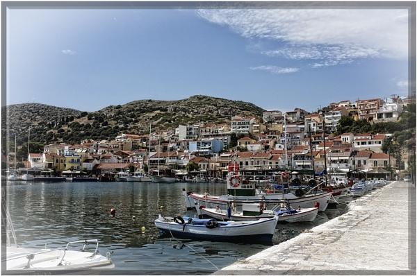 Pythagorio Harbour, Samos, Greece. by badgerwil70