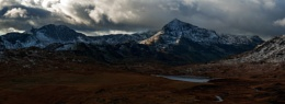 Welsh Winter Snowdonia November 2015 view from Miner's Tracks