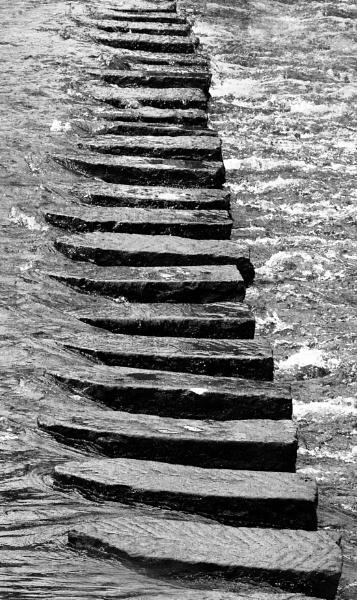 Lealholm Stepping Stones by brianaskew