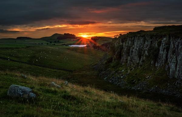 Steel Rigg Sunrise by Nigeve1