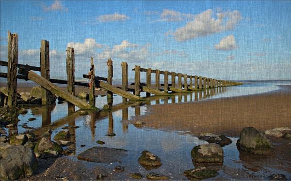 Aldingham Beach - Oil Painting by CarolAnnLauderdale
