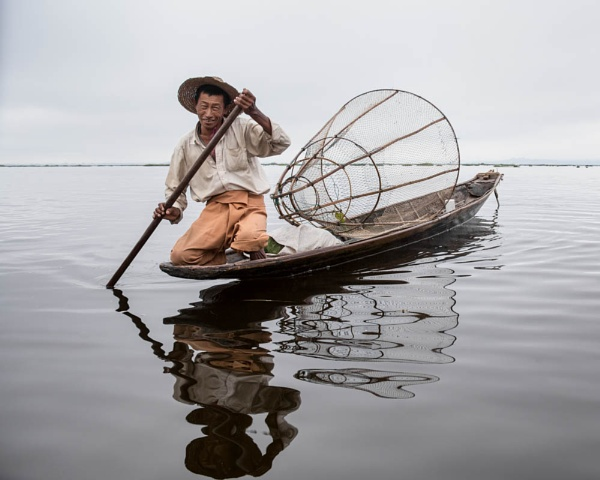 Inle Lake Fisherman by AnnChown