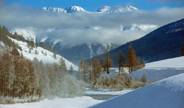 winter landscape by Bernabedellamattia