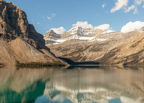 Bow Lake reflections by pdunstan_Greymoon