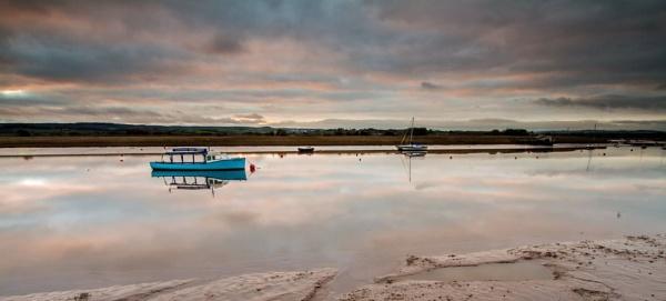 Blue boat, still waters... by steve_eb