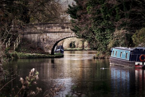 Winter Canal scene near Reading, Berkshire by Simon_Marlow