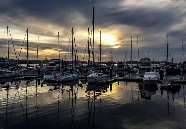 Sunrise over the Marina by ColleenA