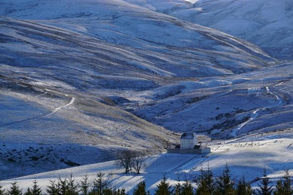 Corgarff Castle in winter. by macprints