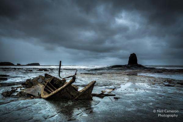 Saltwick Bay Wreck by ncameronphoto