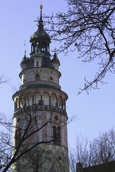 Caslte tower Cesky Krumlov by fredverger