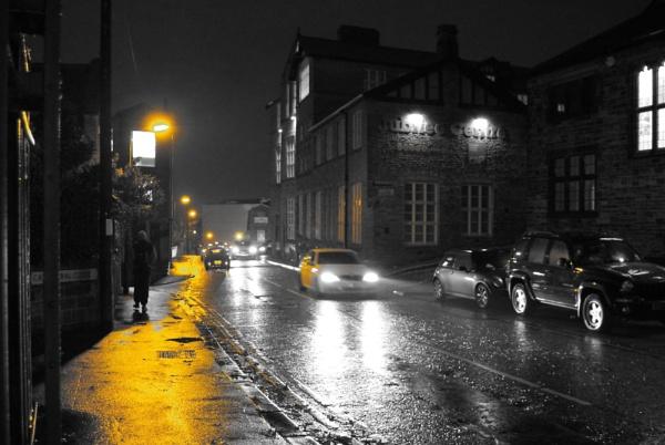 A Rainy Street in Bradford by Headverger