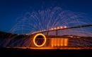 Erskine Bridge fire wheel. by andystark
