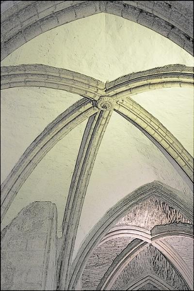 Rib Vaulting, Hexham Abbey by JawDborn