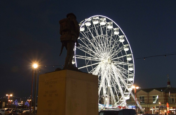 First world war 1 soldier and modern big wheel, lets not forget them by yultony