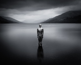 Silver man in Loch Earn