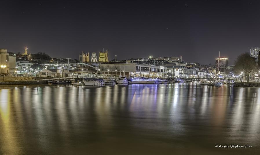 Bristol waterfront lights