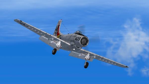 Douglas A-1 Skyraider by StrayCat