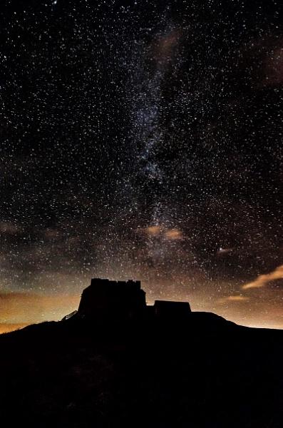 Lindisfarne Castle beneath the Milky Way