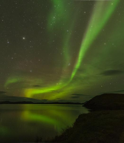 Delicate Aurora, Mývatn, Iceland by BobinAus