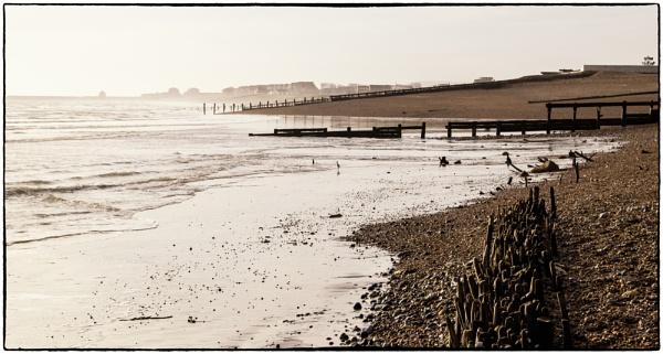 Pevensey Beach again by dawnstorr