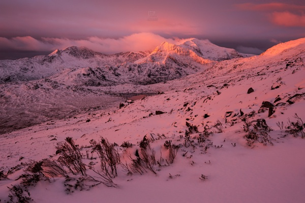 Snowdon sunrise at Winter 2016 by J_Tom