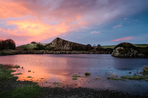 Dusk at Cawfields by flowerpower59