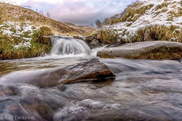 Little Waterfall on the Pennine Way in UK. by rtenny