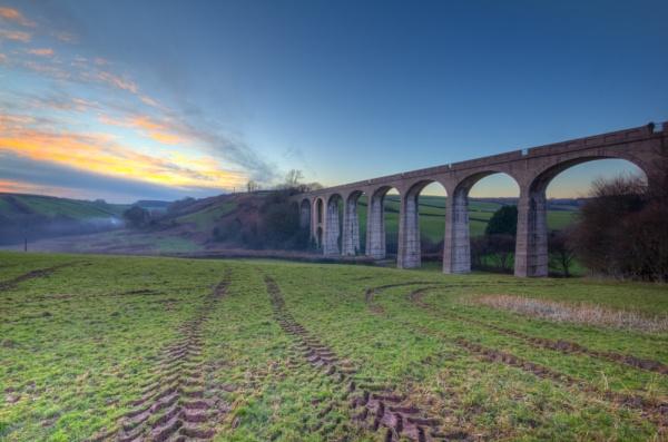 Cannington Viaduct sunset by Benjitasphotography