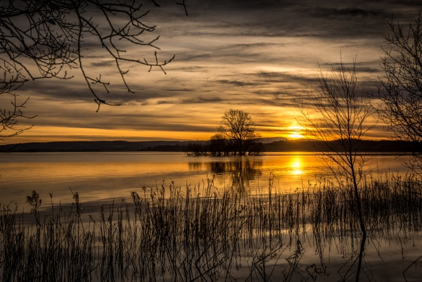 Sunset over the Loch by Capture_Photography