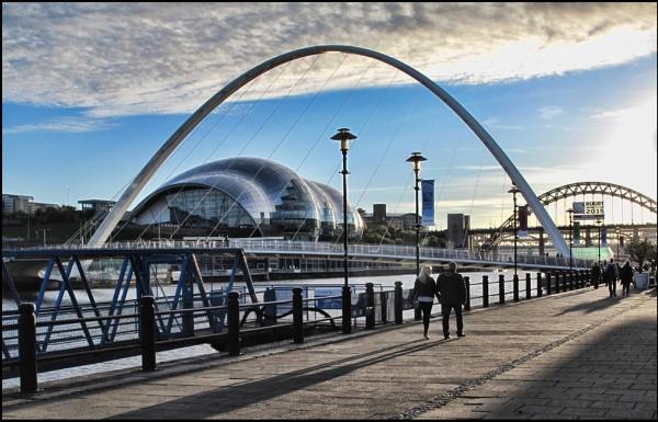 Against the light Millenium and Tyne bridges. by stocksbridge